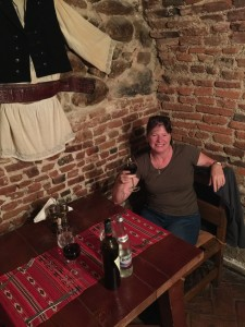 Dinner at Crama Sibiu, down in what was the old wine celler, Sibiu Romania 2015