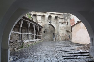 In the old citidel of Sighisoara, Romania 2015