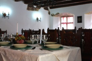 In Casa Vlad Dracul Restaurant in the old citidel of Sighisoara, Romania 2015