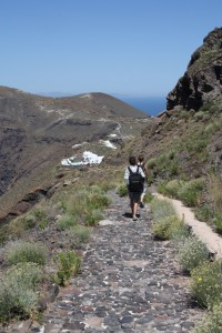 The view on our walk between Fira and Oia, Santorini Greece 2015