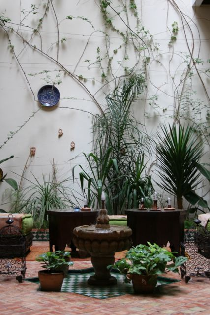Ryad Bahia's Courtyard
