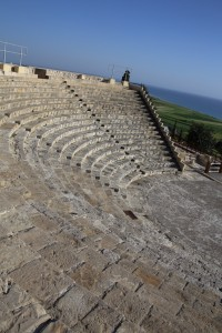 Reconstructed Roman Theatre at Kourion, Cyprus 2015