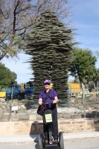 Cass on the Segway Tour, Old City Nicosia, Cyprus, 2015