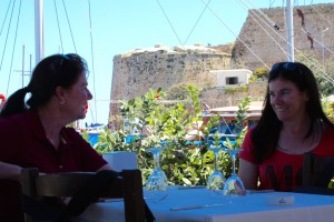 Harbourside lunch 'is the camera still taking photo's' - 10 photos later, Kyrenia, Cyprus 2015