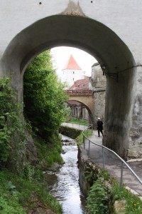 Walking around the wall of the old city in Brasov, Romania 2015