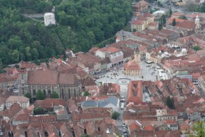 View of the old city from Mount Tampa, Brasov, Romania 2015