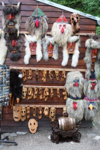 Its so tacky but you just have to wander around the souvenir stands outside Castle Bran, Bran Romania 2015