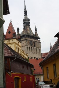 On the streets of Sighisoara, Romania 2015