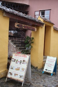 Casa Vlad Dracul Restaurant in the old citidel of Sighisoara, Romania 2015