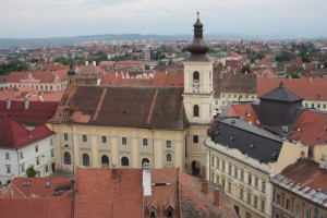 Stadtpfarrkirche Hermanstadt, the Lutheran Church built in the 14th Century but was not completed until 1520, Sibiu Romania 2015