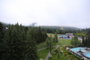 Great view of the clouds from my room, there's a mountain behind there..., Whistler, Canada 2016